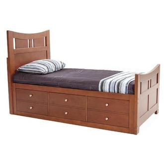Village Craft Twin Captain Bed w/ Bunkie Board