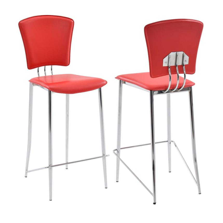 New Tracy Red Counter Stool  main image, 1 of 6 images.