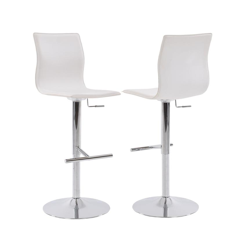 Evolution White Adjustable Stool  main image, 1 of 6 images.