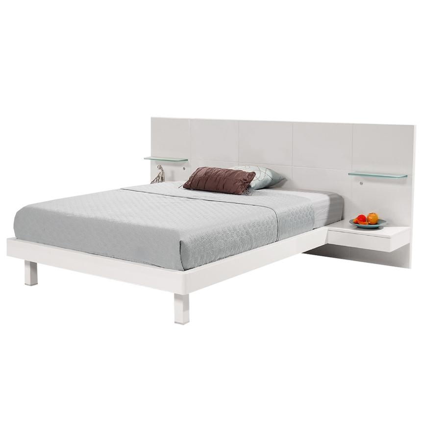 Chico White King Platform Bed w/Nightstands  main image, 1 of 7 images.
