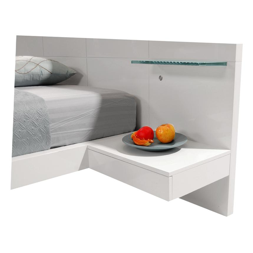 Chico White Full Platform Bed w/Nightstands  alternate image, 3 of 8 images.