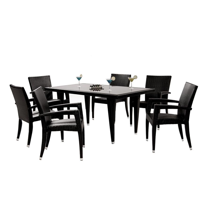 Superieur Neilina Black 7 Piece Patio Set Main Image, 1 Of 13 Images.