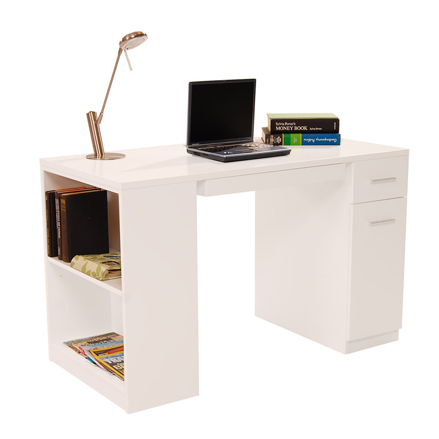 Bellmar White Desk  main image, 1 of 9 images.