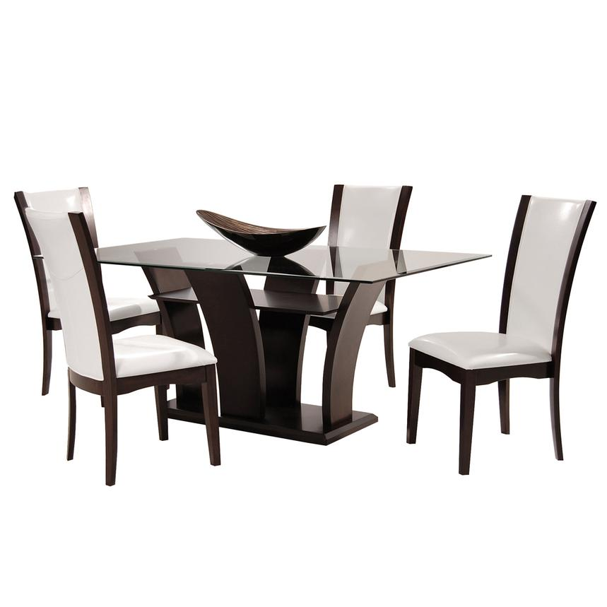 Daisy White 5-Piece Casual Dining Set  main image, 1 of 11 images.