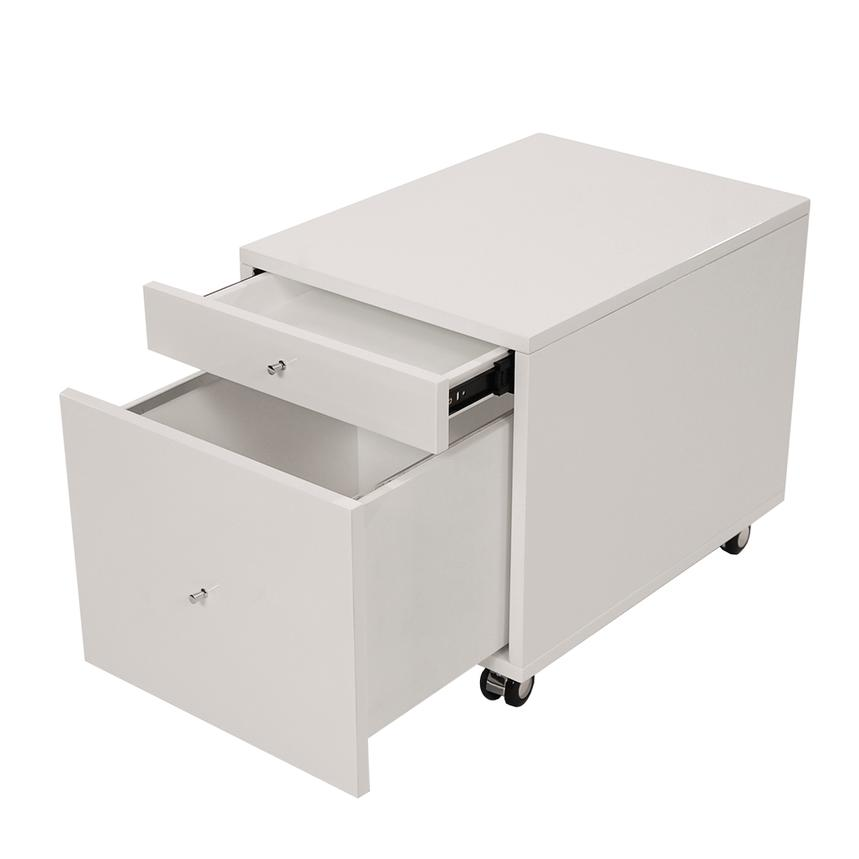 Vitra White Rolling File Cabinet  alternate image, 2 of 7 images.