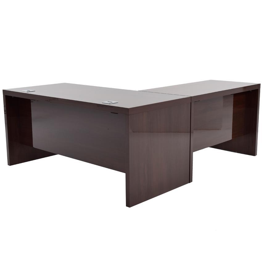 Pisa L Shaped Desk Wkeyboard Tray Made In Italy El Dorado Furniture
