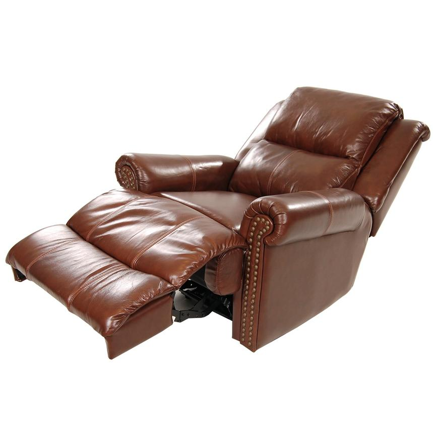 Mount Brown Power Motion Leather Recliner  alternate image, 2 of 8 images.