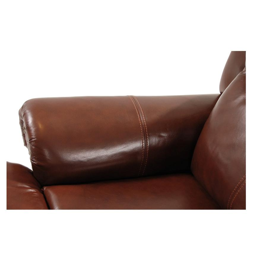 Mount Brown Power Motion Leather Recliner  alternate image, 7 of 8 images.