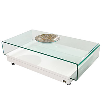 Clove I White Coffee Table w/Casters