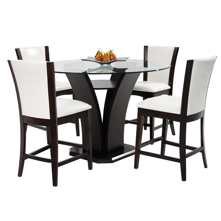 Daisy White 5-Piece High Dining Set  alternate image, 2 of 12 images.