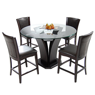 Daisy Brown 5-Piece High Dining Set