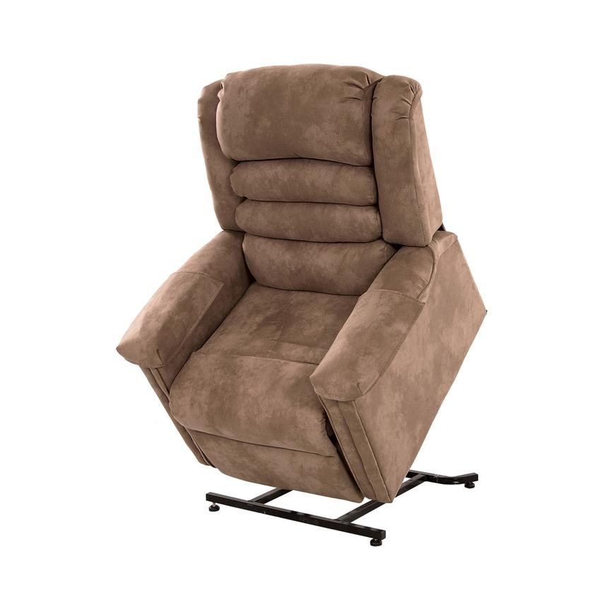 Soother Light Brown Power-Lift Recliner by Catnapper  main image, 1 of 9 images.