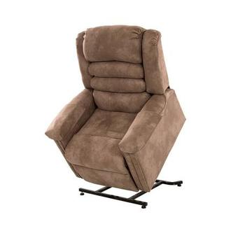 Soother Light Brown Power-Lift Recliner by Catnapper