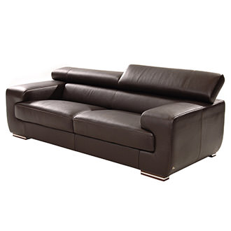 Grace Brown Leather Sofa