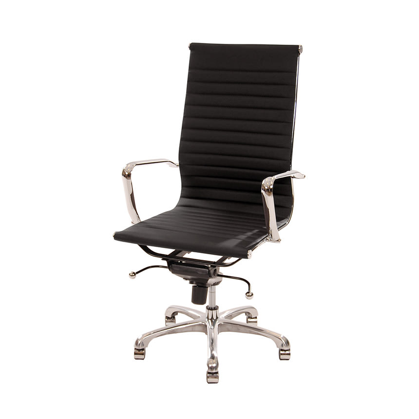 Watson Black High Back Desk Chair  main image, 1 of 7 images.