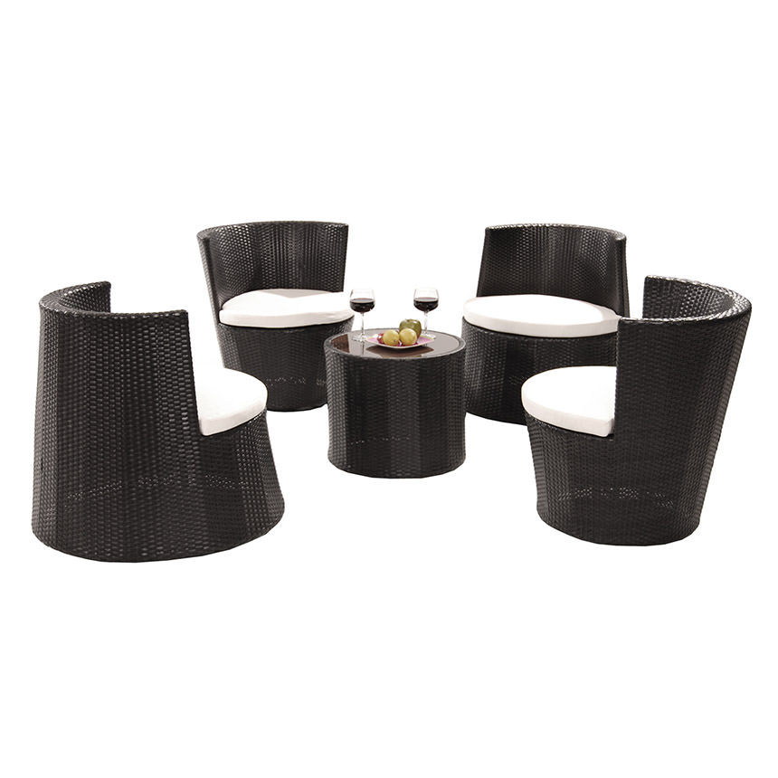 Tower Black 5 Piece Patio Set (Sold By Set Only) Alternate Image,
