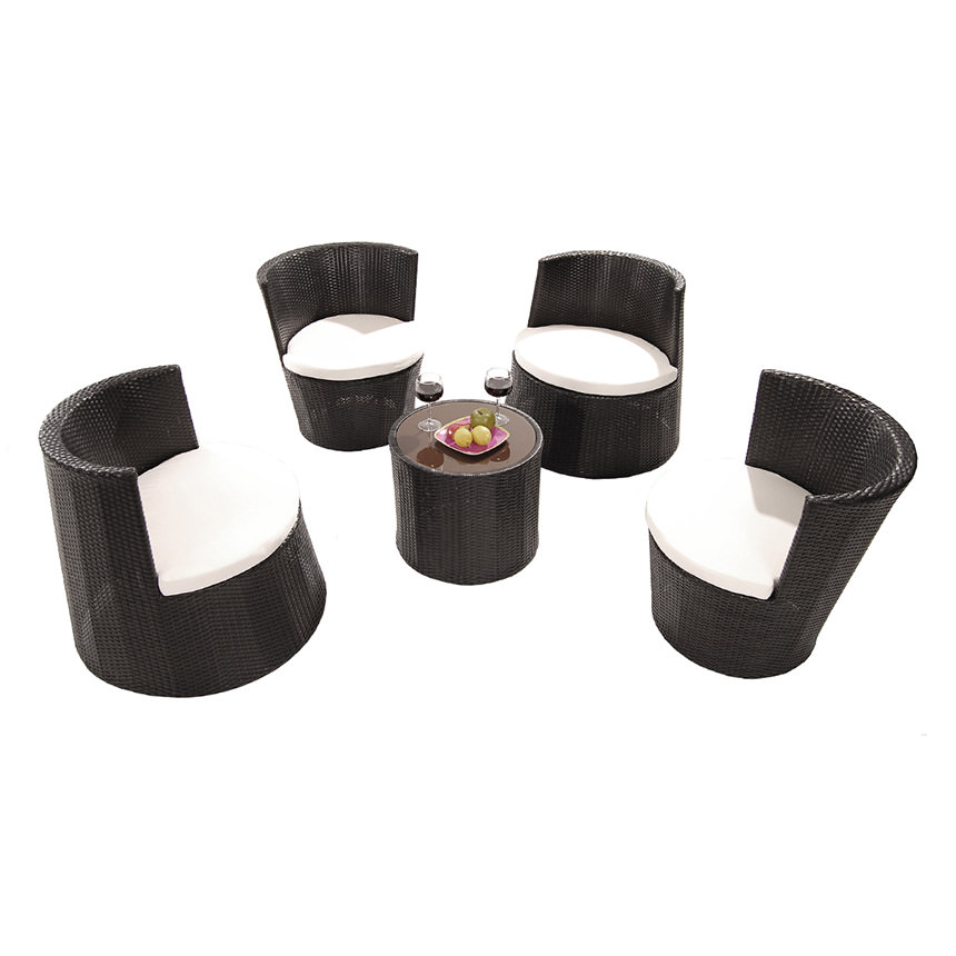 Tower Black 5 Piece Patio Set (Sold By Set Only) Main Image,