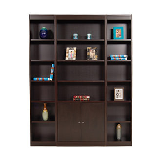 Bellmar Brown 3-Piece Bookcase