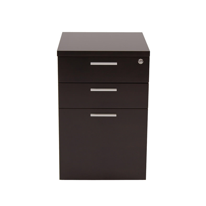 Bellmar Brown Lateral File Cabinet  alternate image, 2 of 6 images.