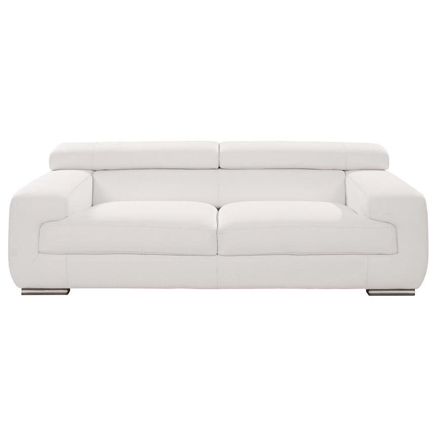 Grace White Leather Sofa  main image, 1 of 10 images.