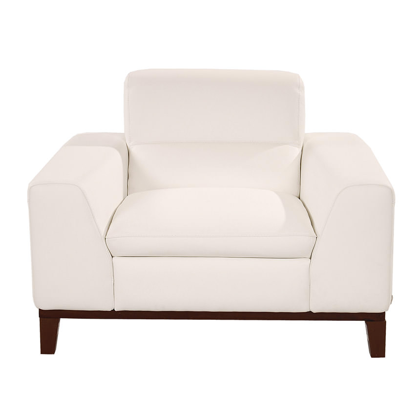 Milani White Leather Chair  alternate image, 2 of 5 images.