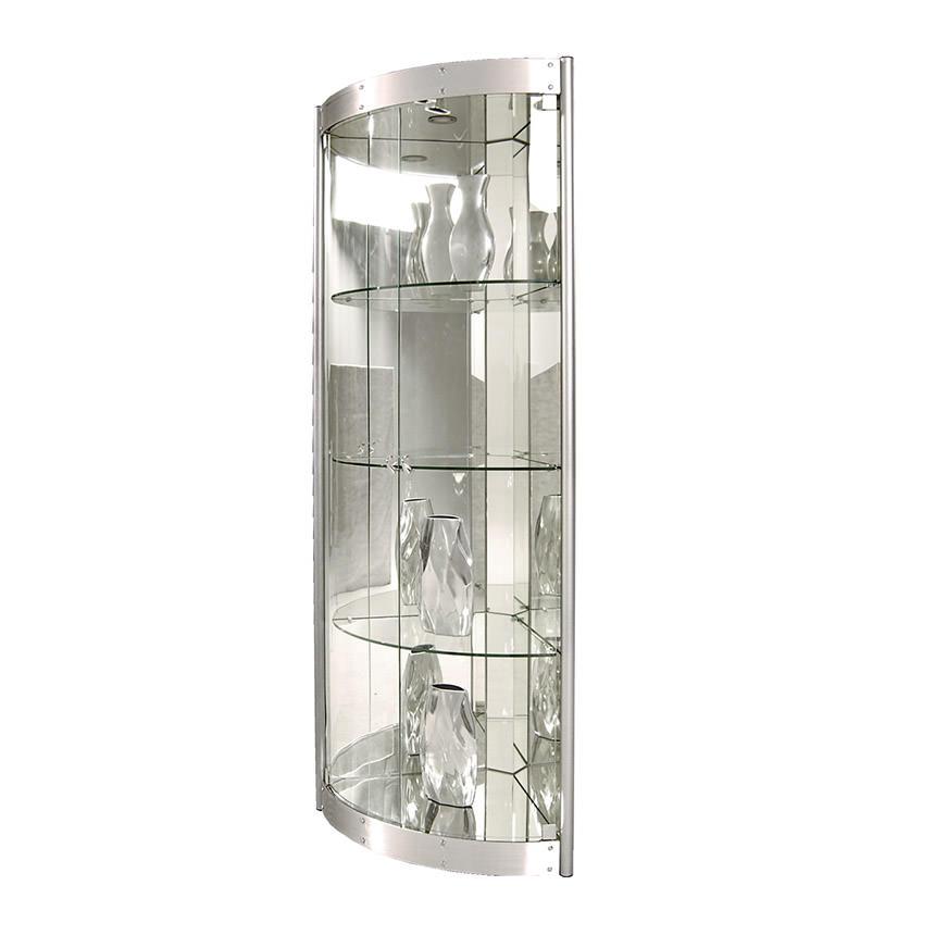 Timney Silver Corner Curio El Dorado Furniture