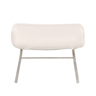 Gertrudes White Loveseat Headrest