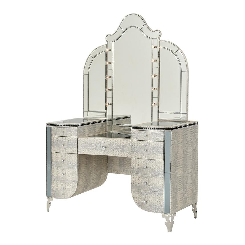 Hollywood Swank Pearl Vanity  main image, 1 of 9 images.
