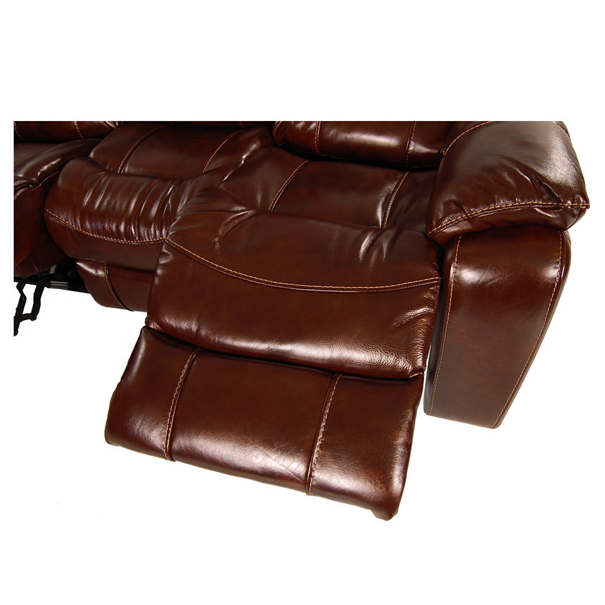 Hudson Power Motion Leather Loveseat  alternate image, 7 of 9 images.