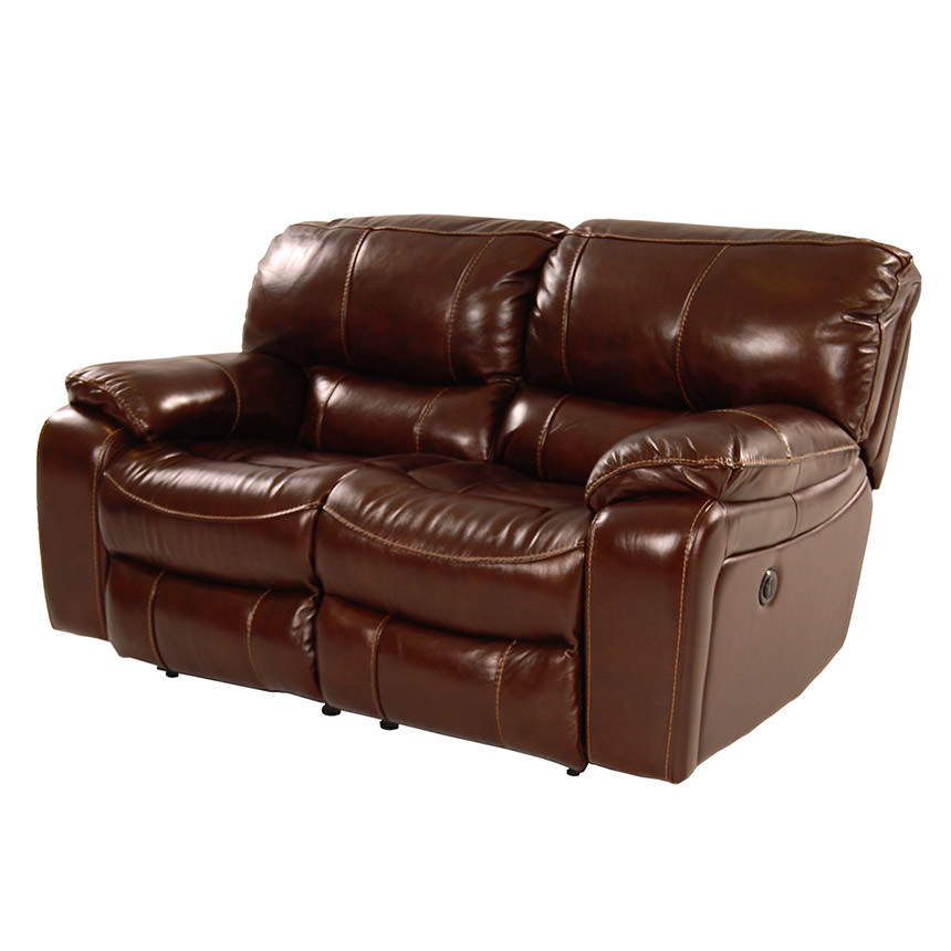 Hudson Power Motion Leather Loveseat  main image, 1 of 9 images.