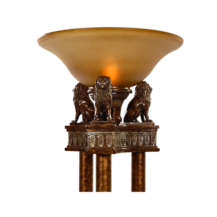 Lions torchiere floor lamp alternate image 2 of 4 images