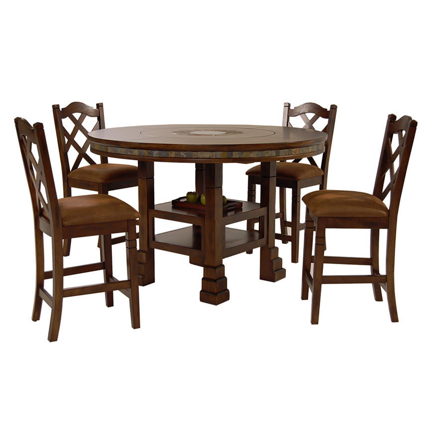 Santa Fe 5 Piece High Dining Set Main Image, 1 Of 13 Images.