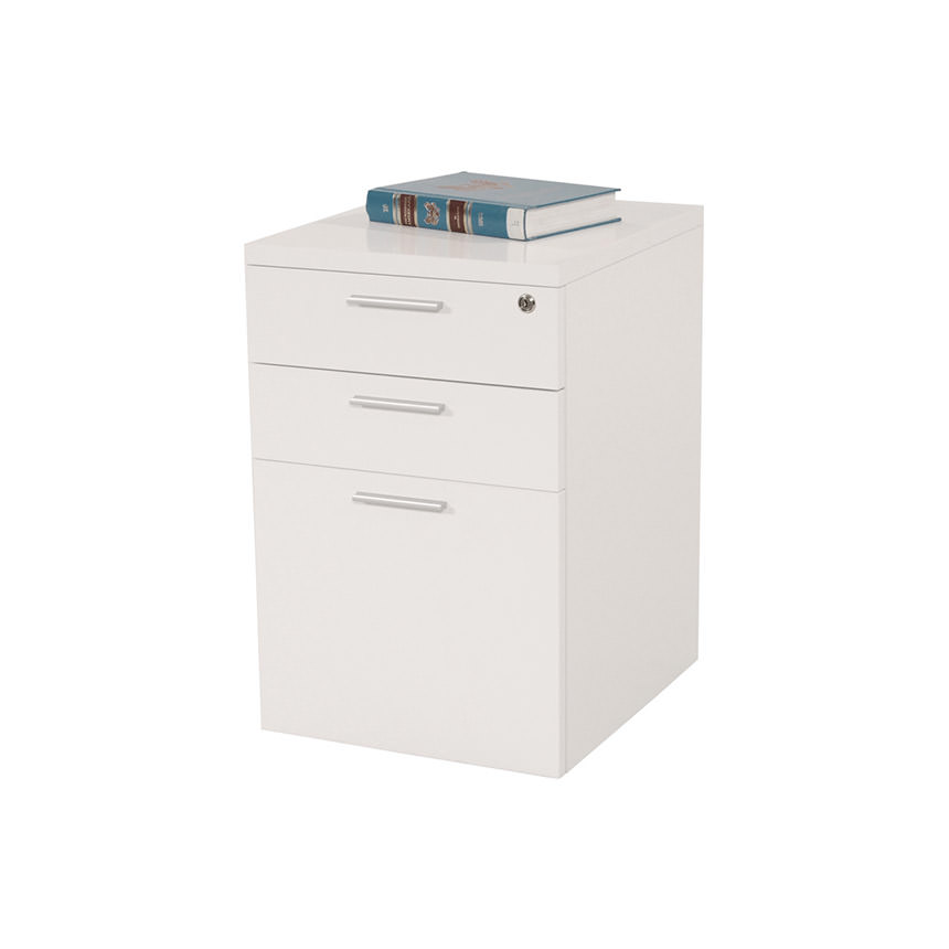 Bellmar White Lateral File Cabinet  main image, 1 of 5 images.