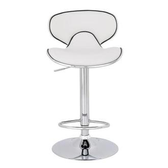 Clipper White Adjustable Stool