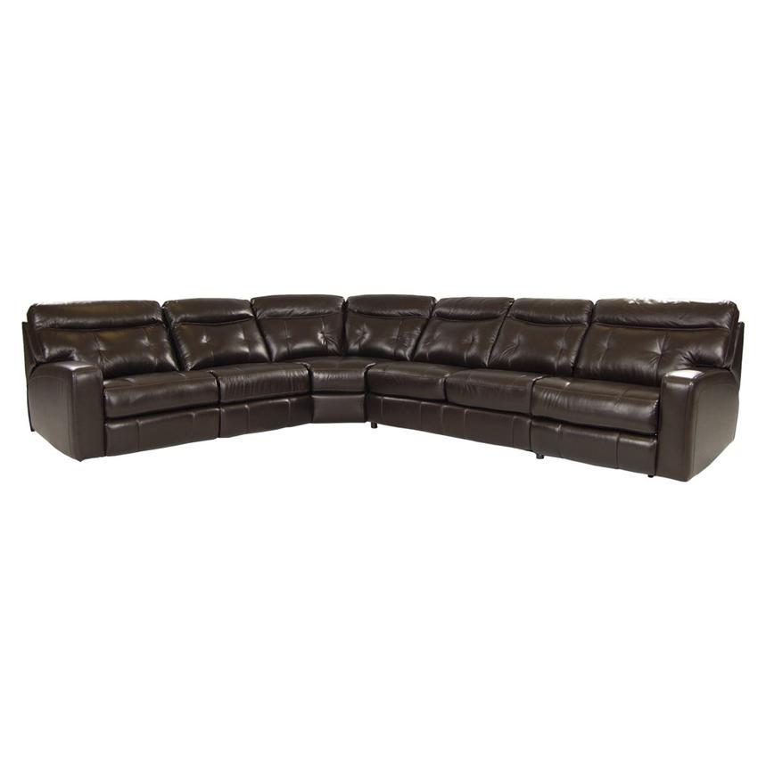 Owen Dark Walnut Power Motion Leather Sofa W/Sleeper Main Image, 1 Of 9