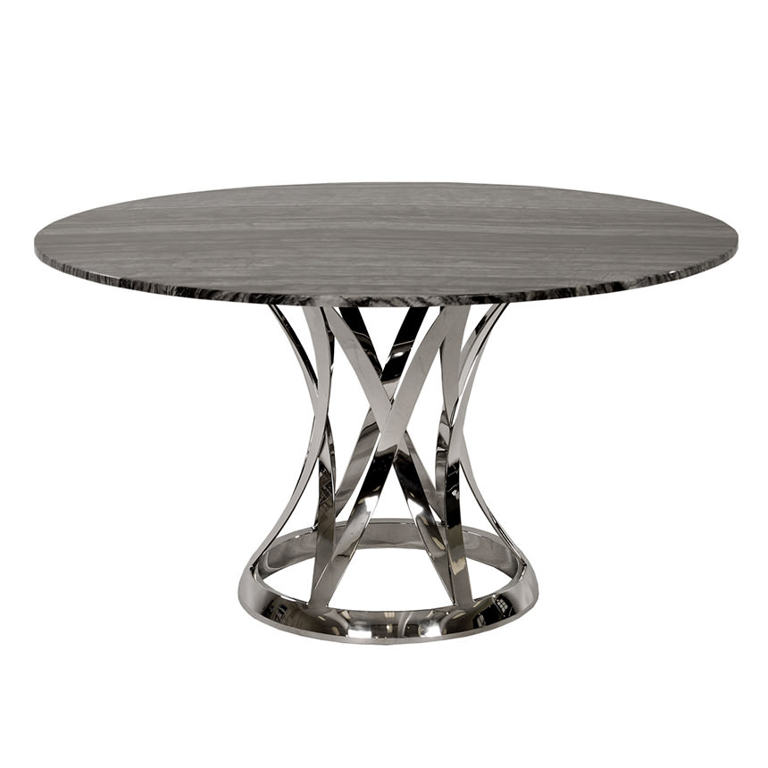 Janet Marble Round Dining Table El Dorado Furniture