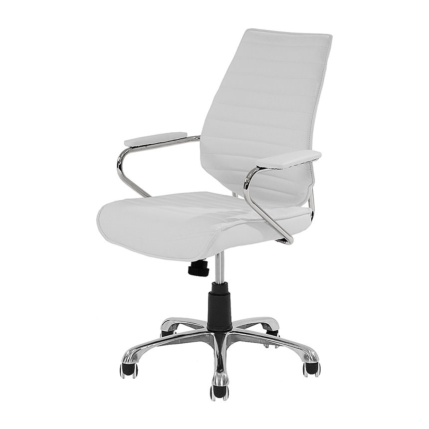 Enterprise White Desk Chair  main image, 1 of 5 images.