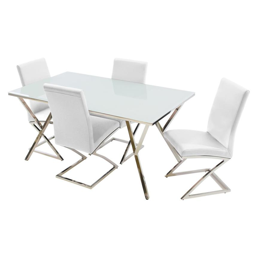 Jade White 5-Piece Casual Dining Set  main image, 1 of 10 images.