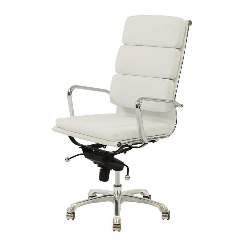 Marconi White High Back Desk Chair  main image, 1 of 6 images.