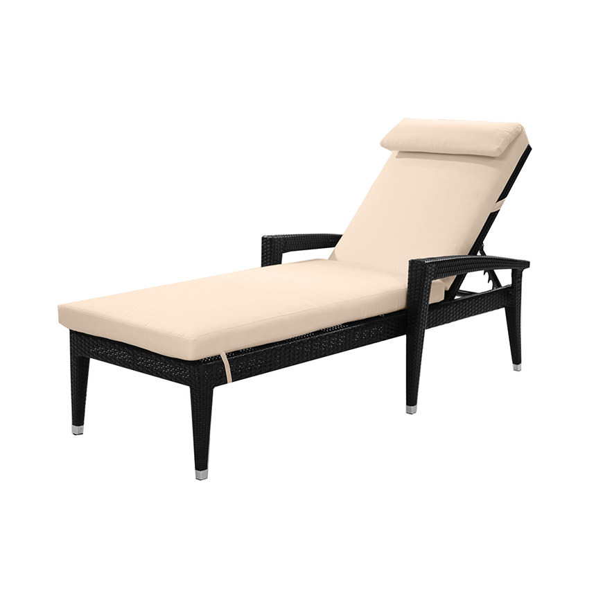 Neilina Black Chaise Lounge  main image, 1 of 8 images.