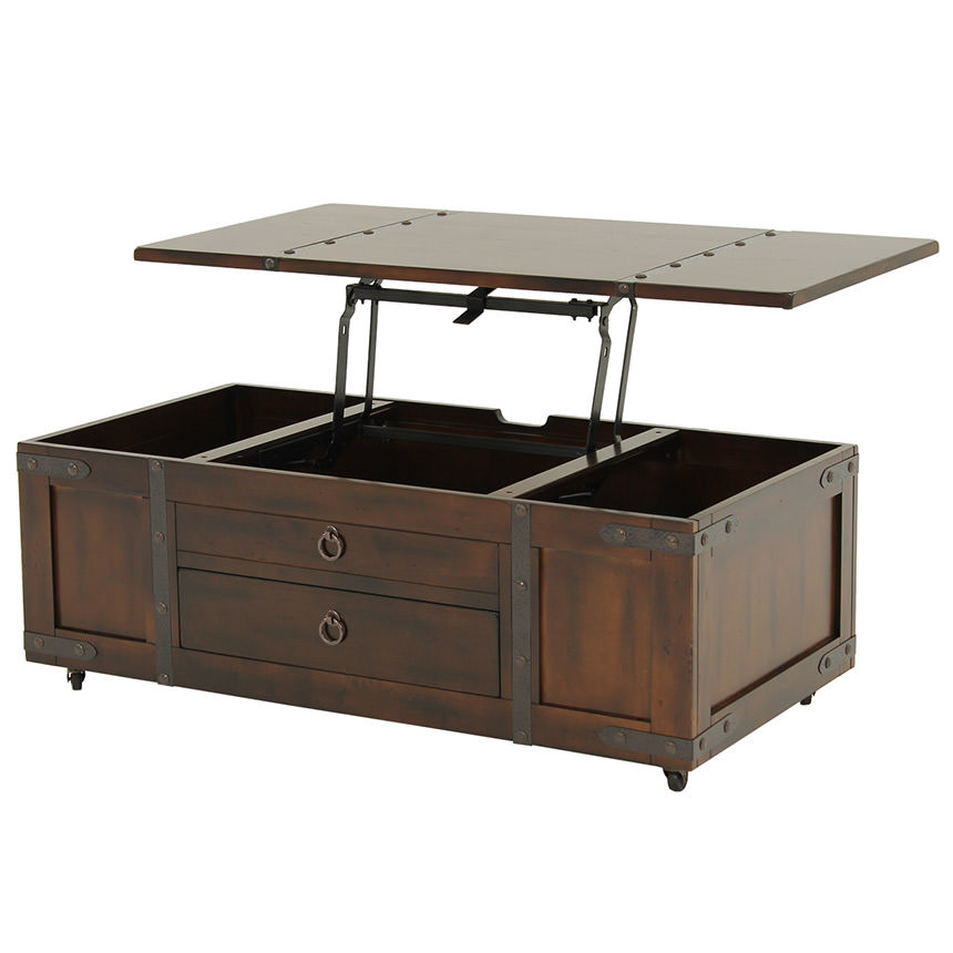Santa Fe Lift Top Coffee Table W Casters Main Image 1 Of 6 Images