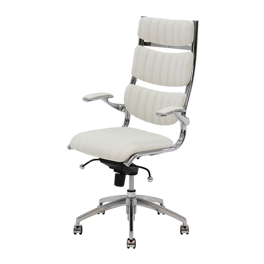 Bell White High Back Desk Chair Main Image 1 Of 6 Images