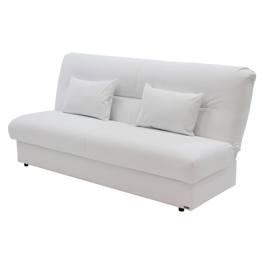 Regata White Futon w/Storage  main image, 1 of 8 images.