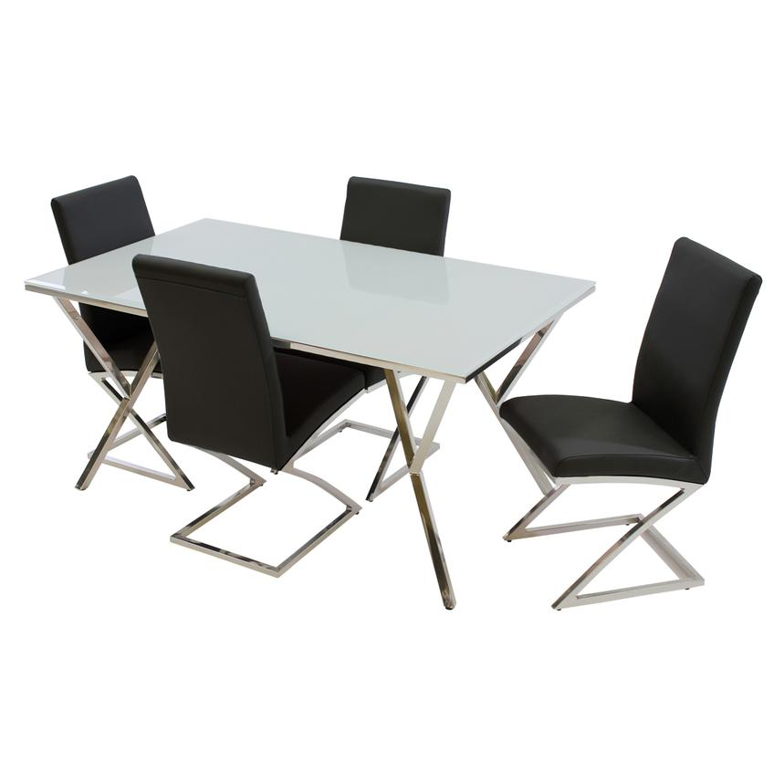 Jade Black 5-Piece Casual Dining Set  main image, 1 of 10 images.