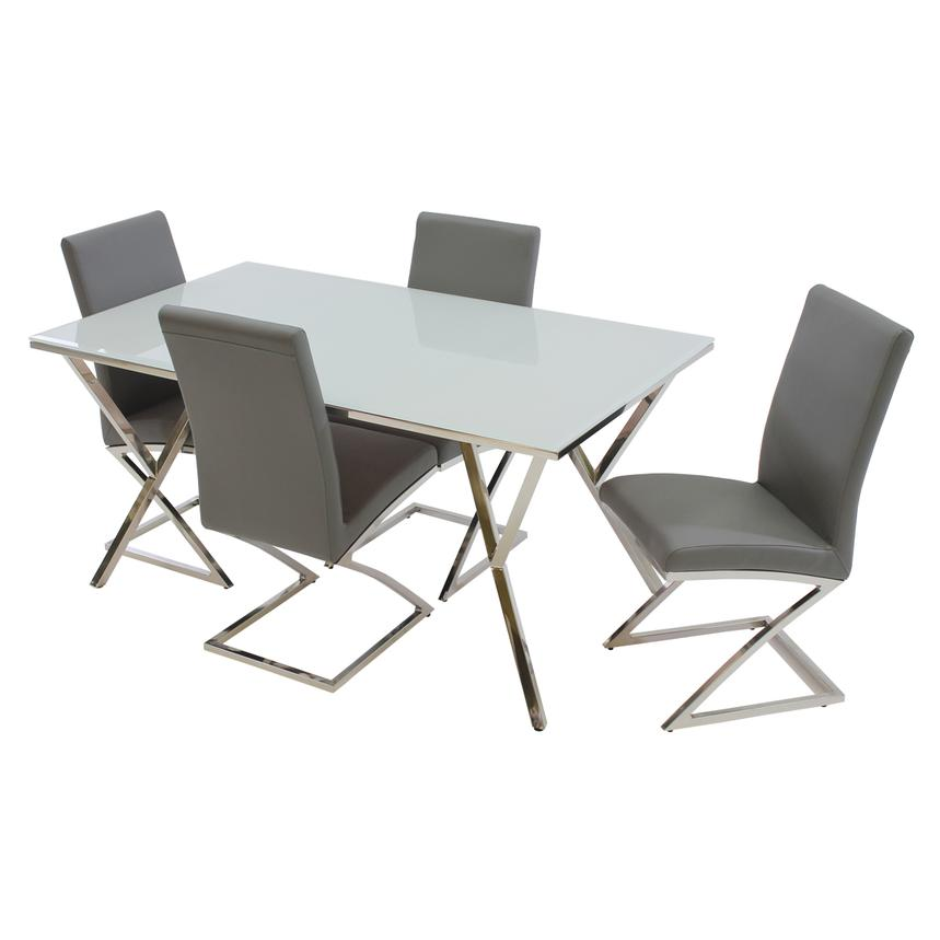 Jade Gray 5-Piece Casual Dining Set  main image, 1 of 11 images.