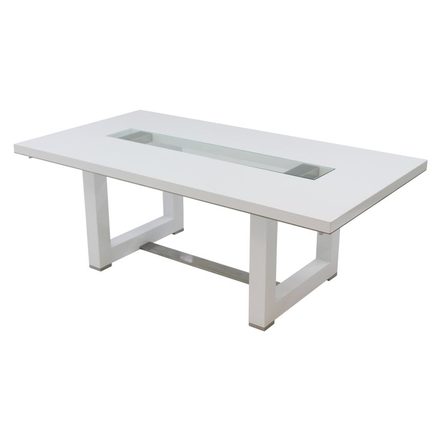 Novo White Extendable Dining Table El Dorado Furniture