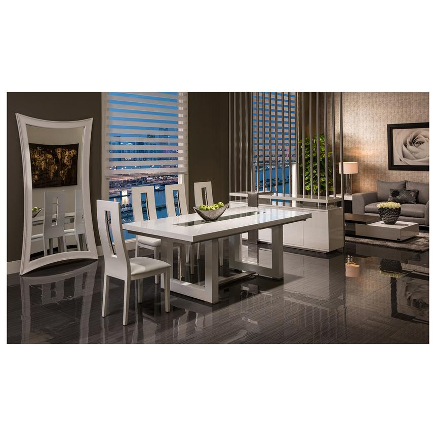 Exceptional Novo White 5 Piece Formal Dining Set Alternate Image, 2 Of 13 Images.