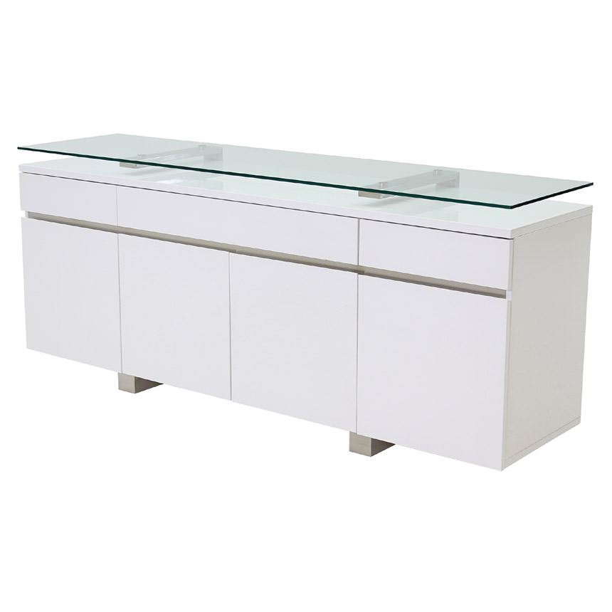 novo white buffet main image 1 of 5 images - White Buffet Table