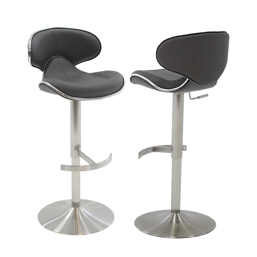 Ecco Gray Adjustable Stool El Dorado Furniture