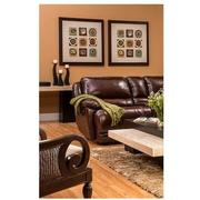 Theodore Burgundy Power Motion Leather Sofa w/Right & Left Recliners  alternate image, 3 of 9 images.